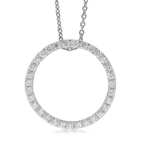 18ct White Gold .56ct Diamond Circle Pendant
