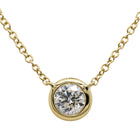 18ct Yellow Gold .50ct Diamond Necklace - Walker & Hall