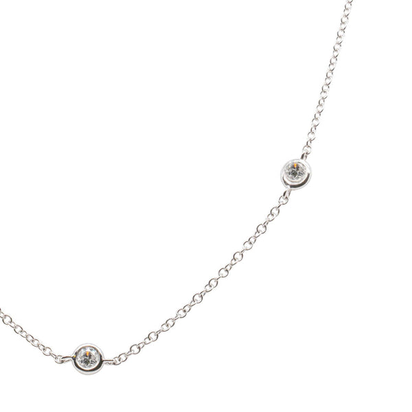 18ct White Gold .67ct Diamond Necklace - Walker & Hall