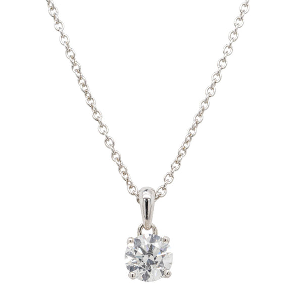 18ct White Gold .64ct Diamond Blossom Pendant - Walker & Hall