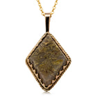 Vintage 15ct Yellow Gold Quartz Pendant - Walker & Hall