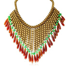 Vintage Brass Egyptian Style Costume Necklace - Walker & Hall