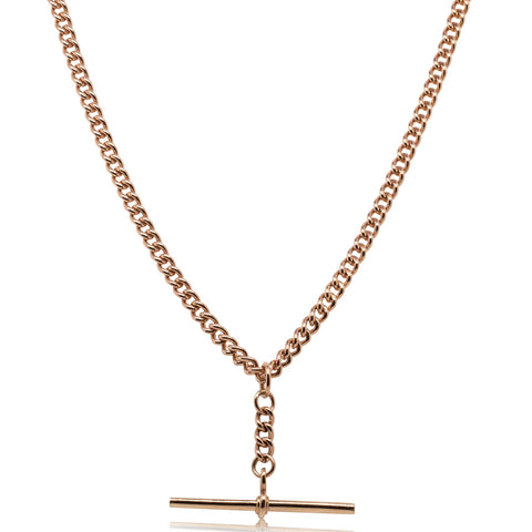 Deja Vu 9ct Rose Gold Fob Chain Necklace - Walker & Hall