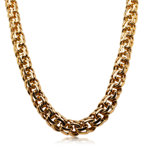 Deja Vu 9ct Yellow Gold Double Curb Link Necklace - Walker & Hall