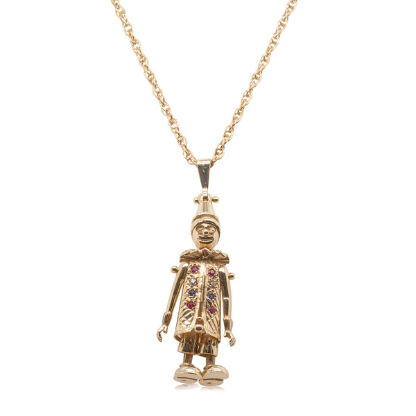 Deja Vu 9ct Yellow Gold Figure Pendant - Walker & Hall