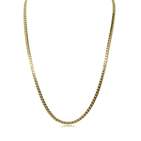 Deja Vu 9ct Yellow Gold Flat Link Necklace - Walker & Hall