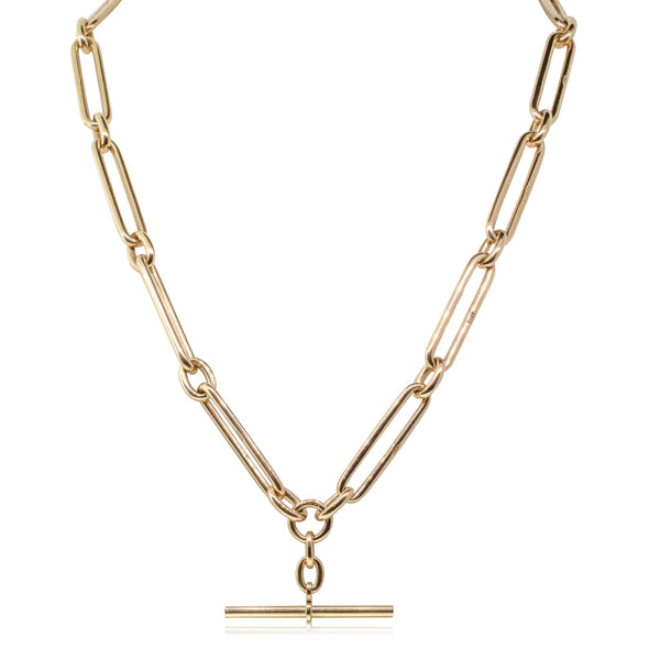 Vintage 9ct Rose Gold Fob Chain - Walker & Hall