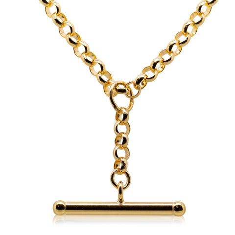 9ct Yellow Gold Belcher Link Fob Chain - Walker & Hall