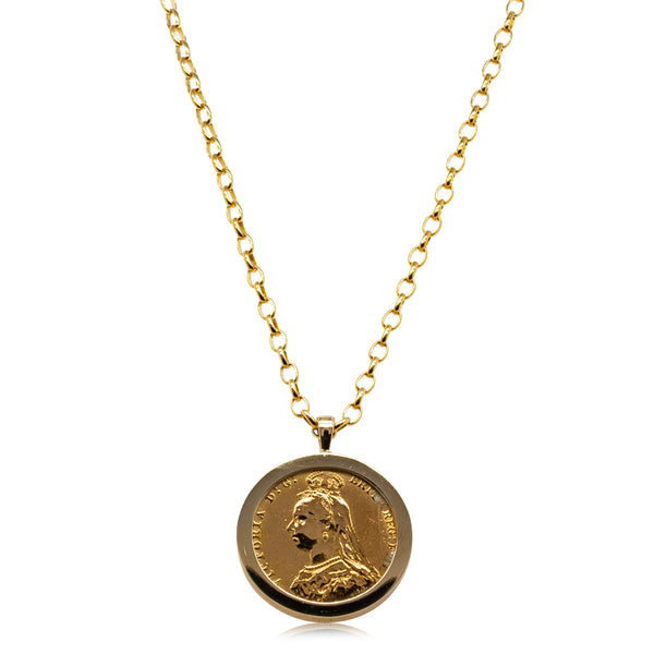 9ct Yellow Gold Full Sovereign Necklace - Walker & Hall