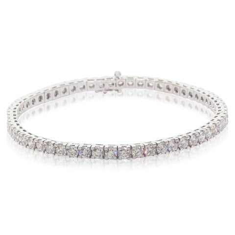 18ct White Gold 5.40ct Diamond Jubilee Tennis Bracelet - Walker & Hall