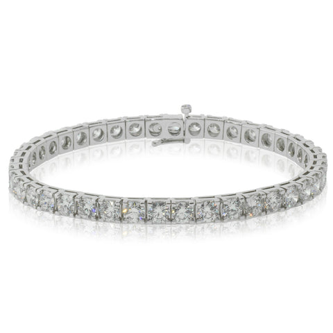 18ct White Gold 9.82ct Diamond Jubilee Tennis Bracelet - Walker & Hall