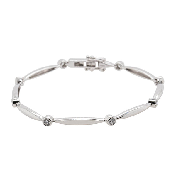 Platinum .55ct Diamond Cadenza Bracelet - Walker & Hall