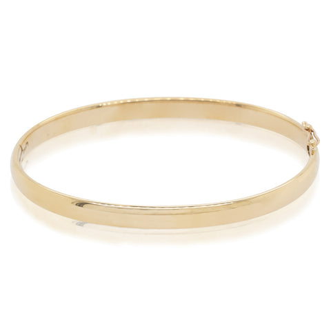 Deja Vu 9ct Yellow Gold Hinged Bangle - Walker & Hall