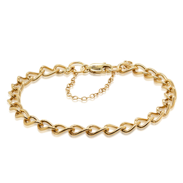 Deja Vu 9ct Yellow Gold Chain Link Bracelet - Walker & Hall