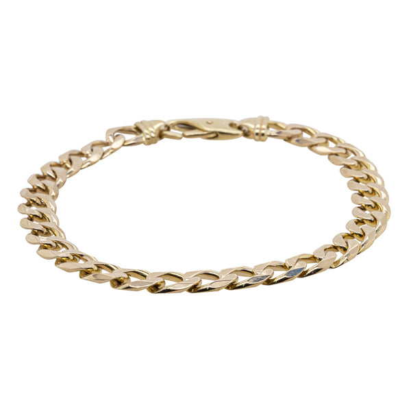 Deja Vu 9ct Yellow Gold Curb Link Bracelet - Walker & Hall