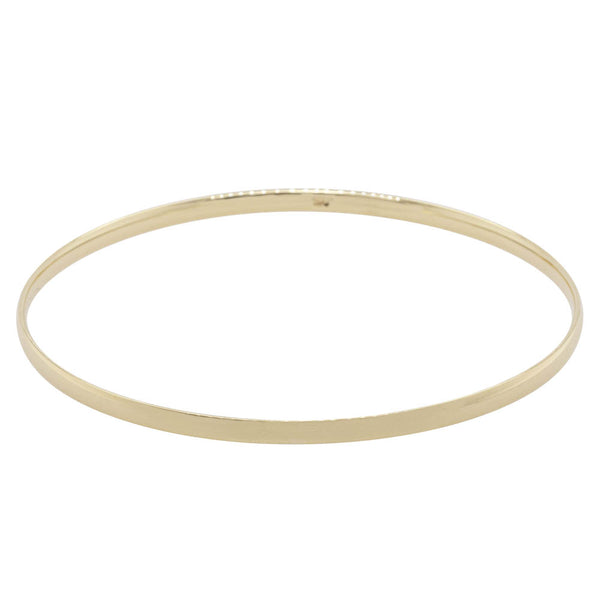 9ct Yellow Gold 3mm Bangle - Walker & Hall