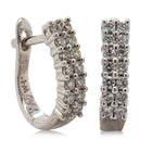 18ct White Gold .50ct Diamond Hoop Earrings - Walker & Hall
