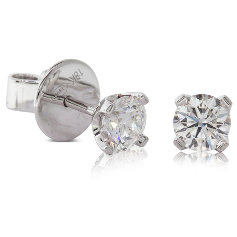 18ct White Gold .80ct Blossom Stud Earrings - Walker & Hall