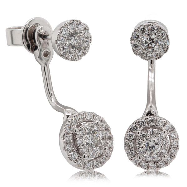 18ct White Gold .92ct Diamond Earrings - Walker & Hall