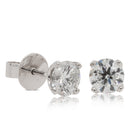 18ct White Gold 2.02ct Diamond Blossom Stud Earrings - Walker & Hall