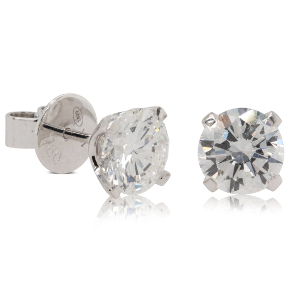 18ct White Gold 3.00ct Diamond Blossom Earrings - Walker & Hall