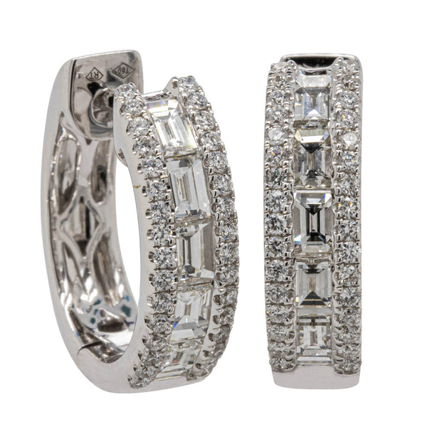 18ct White Gold 1.28ct Diamond Earrings - Walker & Hall