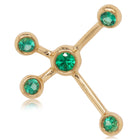 18ct Yellow Gold Tsavorite Single Earth Element Earring - Walker & Hall
