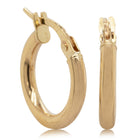 9ct Yellow Gold Small Hoops - Walker & Hall