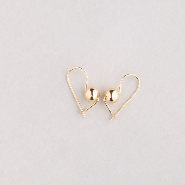 9ct Yellow Gold Small Euroball Earrings - Walker & Hall
