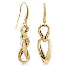 14ct Yellow Gold Double Curb Hook Earrings - Walker & Hall