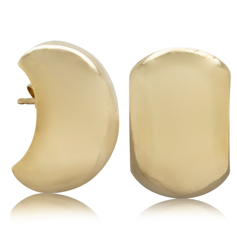 Deja Vu 9ct Yellow Gold Stud Earrings - Walker & Hall