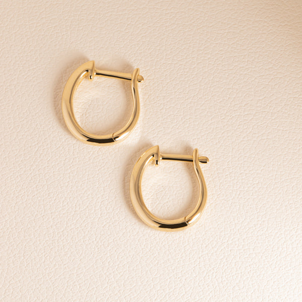 9ct Yellow Gold Cosy Earrings - Walker & Hall