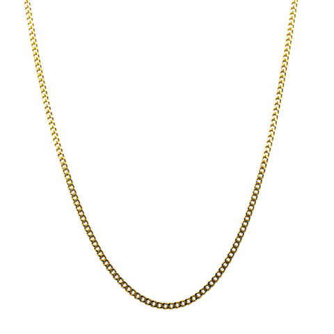 9ct Yellow Gold Diamond Cut Curb Chain - Walker & Hall
