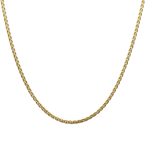 9ct Yellow Gold 1mm Wheat Chain - Walker & Hall