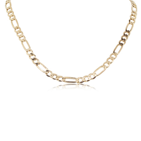Deja Vu 9ct Yellow Gold Figaro Chain Necklace - Walker & Hall