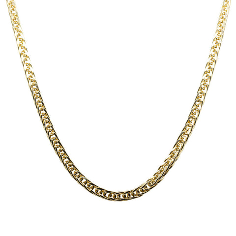 9ct Yellow Gold Foxtail Link Chain - 45cm