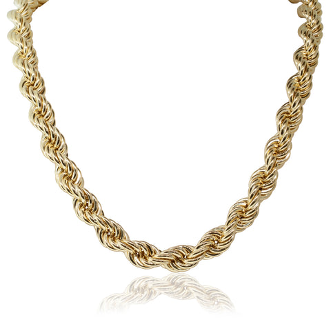 18ct Yellow Gold Twisted Link Chain - 50cm