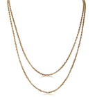Vintage 9ct Yellow Gold Muff Chain - Walker & Hall