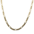Deja Vu 9ct Yellow Gold Figaro Necklace - Walker & Hall
