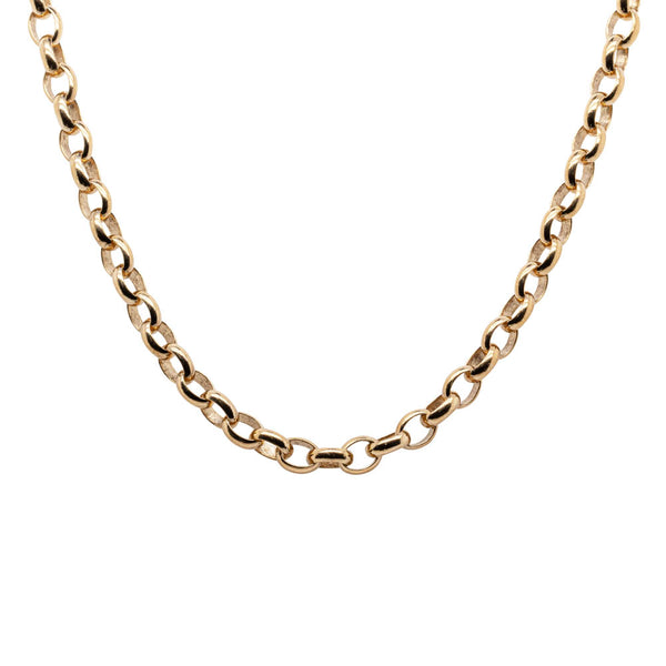 9ct Yellow Gold Belcher Necklace - Walker & Hall