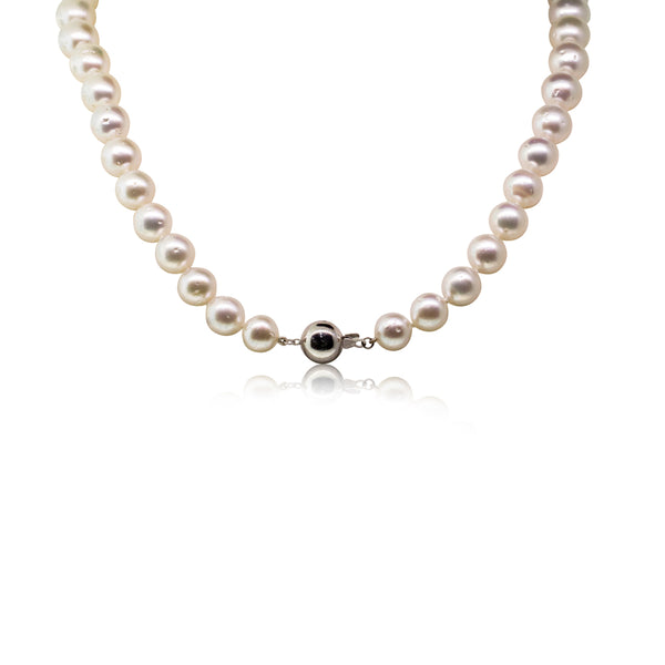 9ct White Gold 9-12.5mm South Sea Pearl Strand - Walker & Hall