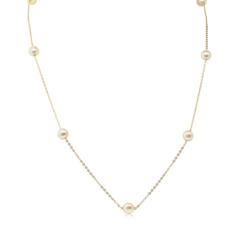 Deja Vu 14ct Yellow Gold Akoya Pearl Necklace - Walker & Hall