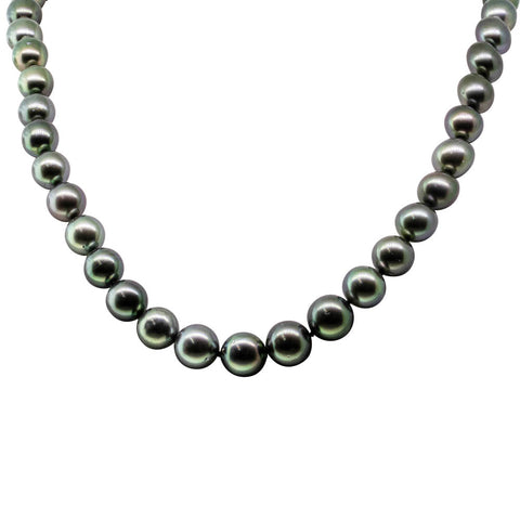 18ct White Gold Tahitian Black Pearl Strand - Walker & Hall