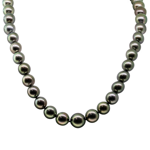 18ct Yellow Gold Tahitian Black Pearl Strand - Walker & Hall