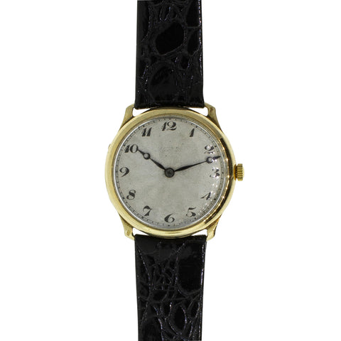 Vintage 18ct Yellow Gold Gents Watch - Walker & Hall