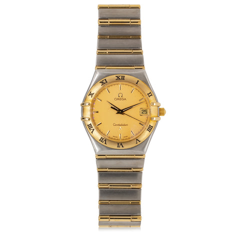 Vintage Stainless Steel & 18ct Yellow Gold Omega Constellation Watch - Walker & Hall