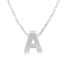 Sterling Silver Noted Letter Pendant - Walker & Hall