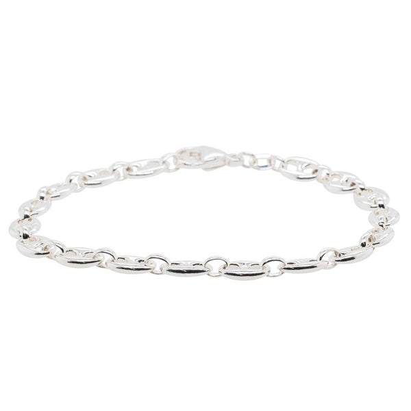 Sterling Silver Anchor Link Bracelet - Walker & Hall