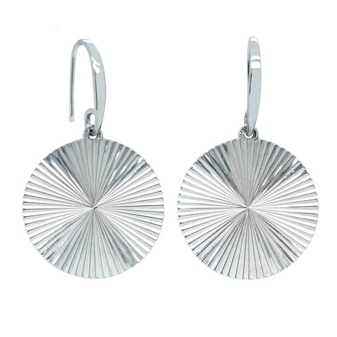Sterling Silver Reflections Hook Earrings - Walker & Hall
