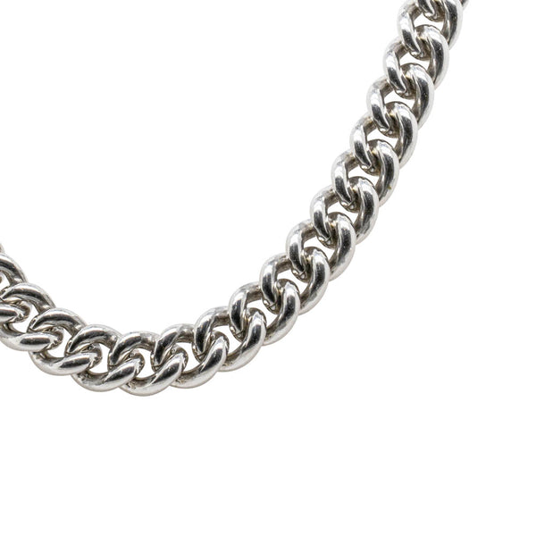 Sterling Silver Curb Link Chain With Bolt Clasp - Walker & Hall